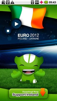 """'EURO 2012 IRELAND Anthem' is the official app to play IRELAND anthem during UEFA EURO 2012 tournament.<br/><br/>★★★★★ """"EURO 2012 IRELAND Anthem"""" ★★★★★<br/><br/>'EURO 2012 IRELAND Anthem' allow the Ireland national football team supporters to play and sing the Ireland anthem during UEFA EURO 2012 tournament.<br/><br/>The 2012 UEFA European Football Championship, EURO 2012, will be the 14th European Championship for national football teams sanctioned by UEFA. <br/><br/>The UEFA EURO 2012…"""