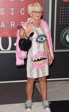BEST DRESSED FOR SURE!!!  Rock it Baddie :)   Baddie Winkle from 2015 MTV Video Music Awards Red Carpet Arrivals  This look was very catching (wink, wink).