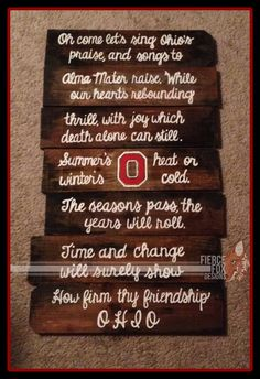 Carmen Ohio on Upcycled Pallet Wood. by FierceFoxCreations on Etsy