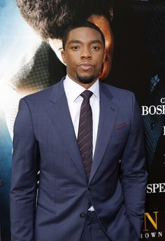 Chadwick Boseman, the actor who has played major icons like James Brown and Jackie Robinson.