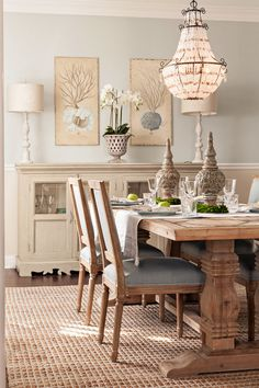 Dining Room Paint Color. Light Gray .  Casabella Home Furnishings & Interiors.