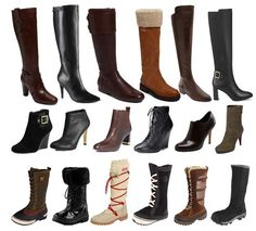 Different kinds of boots