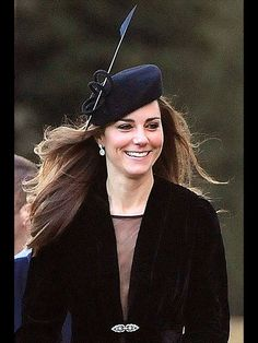 """Accompanying William to the Jan. 8, 2011, wedding of Harry Aubrey-Fletcher and Sarah Louise Stourton in Aldborough, England, Middleton took her all-black ensemble to new heights with a felt beret from Whiteley Fischer. """"[It] looked gorgeous on her,"""" Peter Whiteley, director of the company, told PEOPLE. """"She has quite an original style and seems to carry off her hats very well."""" Kate Middleton's Hats and Fascinators: The 10 Best"""