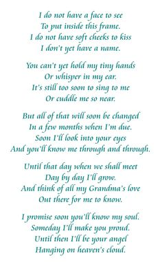 Letter From Unborn Baby To Grandparents Unborn Baby Baby Quotes Unborn Baby Quotes