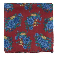 Apple Red Hinterland Floral Pocket Square | Ties, Bow Ties, and Pocket Squares | The Tie Bar