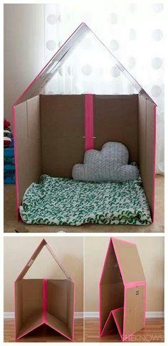 Cardboard house <|