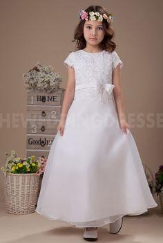 Satin Strapless Sweet Flower Girl Dresses - Order Link: http://www.theweddingdresses.com/satin-strapless-sweet-flower-girl-dresses-twdn5512.html - Embellishments: Embroidery; Length: Floor Length; Fabric: Satin; Waist: Natural - Price: 91.0744USD