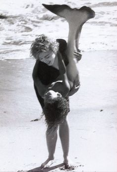 Little mer-people flotsam.  Cherish, Madonna, ph. Herb Ritts, 1989