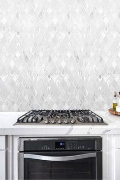 White Backsplash Tile Quartz Countertop Cabinet