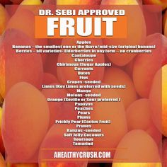 From Dr. Sebi's Nutritional Guide. Visit the post for more.