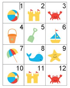 Counting Coconuts: Summer Calendar Cards - 2 Sets!