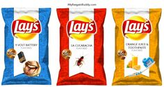 Rejected Lays Potato Chips Flavours#Ultimate lays fan#