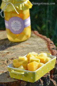 Cukinia ananasowa (Ananas z cukinii, Cukinia ala ananas) Cantaloupe, Pineapple, Mango, Vegan Recipes, Fruit, Food, Recipes, Manga, Pinecone