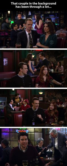 That Time There Was A Parallel Story In How I Met Your Mother. What happens goes behind the characters it happens to.