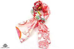 Patchwork Sommer Tuch in pink, rot und weiß aus der #Lieblingsmanufaktur