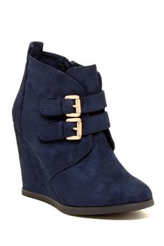 Wake Up Wedge Bootie <3 #indigo