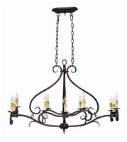 World Imports 3629-32 Chelton 12 Light Iron Island Fixture