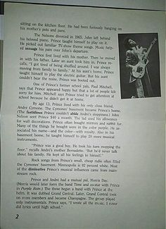 An older article about Prince page 2