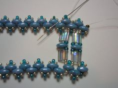 Lagoon Super Duo and Tila bracelet tutorial by zviagil on Etsy, $7.00