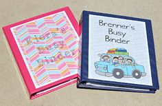busy binders for road trips    http://kinzieskreations.blogspot.com/2012/07/busy-binders.html