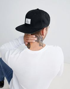 ASOS Snapback Cap In Black With Patch.  clothestobuy  mensstyle  urbanstyle   fresh 3e5368ca0169