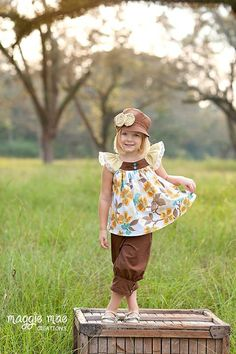 Girls Ruffle Pattern, Flutter Ruffle Sewing Pattern, Big Bow, Swing Top PDF Pattern, Fly Girl Sewing Pattern 6m-8 plus doll