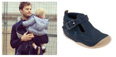 Actor Jamie Dornan, out and about with his daughter Dulcie who's wearing our super cute  pre-walking shoes Harry.