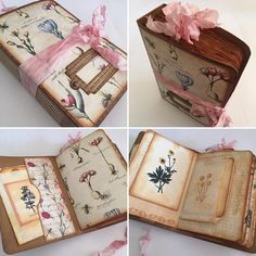 """175 Likes, 27 Comments - Liezl B - I Love Paper (@didsomebodysaypaper) on Instagram: """"A little 4"""" x 6"""" vintage style journal with a botanical theme. #journal #stamping #garden…"""""""