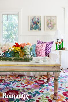 Vibrant Cottage Decor with Floral Flair: House Tour