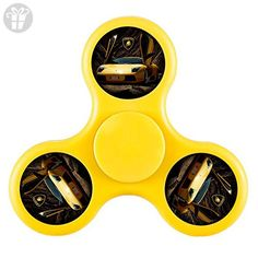 New Style Lamborghini Fidget Spinner Anxiety Attention Toy Great Gift to Helps Focus Stress Negative Emotion ADHD and Relax for Children and Adults Extremely Durable-Yellow - Fidget spinner (*Amazon Partner-Link)