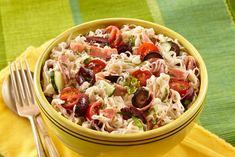 Italian Pasta Salad #shiratakinoodles