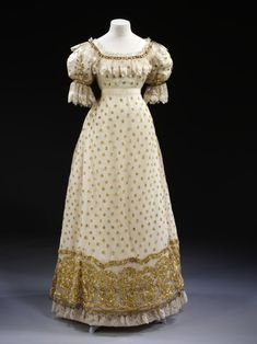 Transitional Regency-Romantic Period Dress  1820  The Victoria & Albert Museum