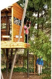 Image result for install zip line structure backyard