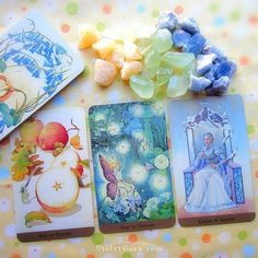 Cards from the Victorian Fairy Tarot.  / Photo © www.VioletAura.com