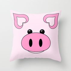 Hey, I found this really awesome Etsy listing at https://www.etsy.com/listing/223812011/pink-pig-zippered-polyester-pillow-cover