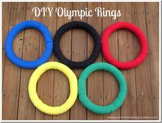 DIY Olympic Rings Wreath ~ Be Different...Act Normal