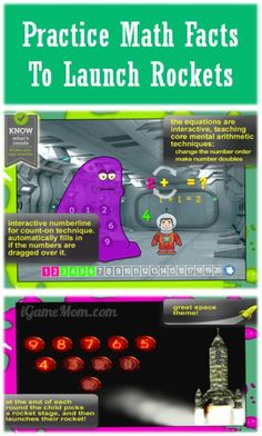 practice math fact to launch rocket - fun math app for kids #kidsapps