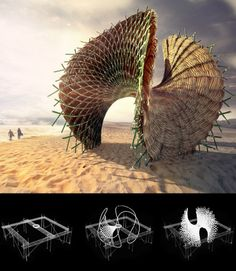 The Swing Pavilion is a competition design proposal, developed for the Lombok International Bamboo Architectural Festival. The goal of the competition was to develop architectural installations that promote a creative use of Bamboo as a construction material. In collaboration with Green Design Camp, Bali, this project was developed and eventually selected for construction.