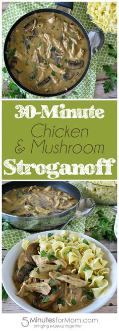 This stroganoff recipe comes together in about 30 minutes, but it tastes like it's been cooking all day!