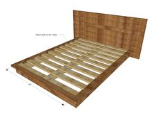 Ana White | Rustic Modern 2x6 Platform Bed - DIY Projects