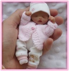 "~*~ Ooak 5"" Newborn Realistic Baby Girl ~*~ Must See~*~ Handsculpt Jointed ~*~"
