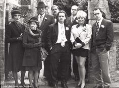Back in the day: Ross Kemp (right of middle) in an early EastEnders press shot with Letitia Dean, Todd Carty, Mike Reid and June Brown, amongst others. Todd Carty, June Brown, Ross Kemp, Mike Reid, Barbara Windsor, Uk Tv, 30th Anniversary, Back In The Day, Tv Series