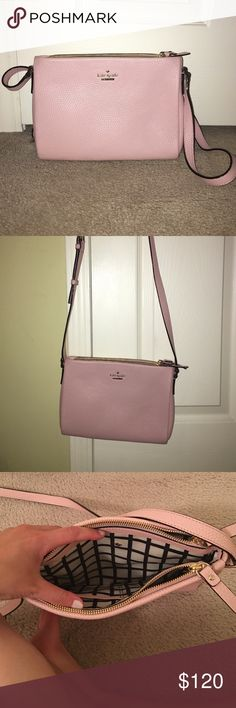 Authentic Baby Pink Kate Spade Crossbody Bag Authentic Kate Spade Crossbody bag. Brand new without tags. Never used and absolutely no sign of wear. Two zipper sections and one middle section. Adjustable strap. Beautiful baby pink color. More pictures available upon request! kate spade Bags Crossbody Bags
