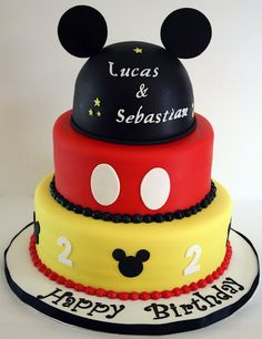 Mickey Mouse Cake 3 Tiers by creative and delicious sweets