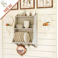 80 Incredible Hanging Rack Kitchen Decor Ideas – Home Design Kitchen On A Budget, Diy Kitchen, Kitchen Storage, Kitchen Decor, Kitchen Ideas, Kitchen Rack, Plate Shelves, Plate Racks, Dish Racks