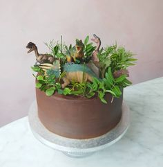 """Dinosaur cake! We here for all your party needs the brief was chocolate, chocolate cake and """"anything with dinosaurs on it""""."""