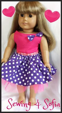 Summer dress for American Doll my first free pdf sewing pattern