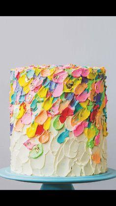 Beautiful multicolour Katherine Sabbath Cake. Colourful wedding.
