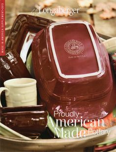 MADE IN THE USA - Longaberger Woven Traditions Pottery is back in the USA just one year after Tami Longaberger announced the Project Eagle pledge to bring all product manufacturing back to America.