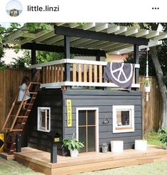 One-day backyard project ideas that spice up your outdoor space 26 . One-day backyard project ideas that spice up your outdoor space 26 One-day backyard project ideas that s. Kids Outdoor Play, Backyard For Kids, Backyard Projects, Outdoor Projects, Backyard Ideas, Backyard House, Kids House Garden, Kids Yard, Family Garden